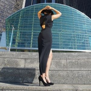 Dresses - Wrap Front Maxi Dress